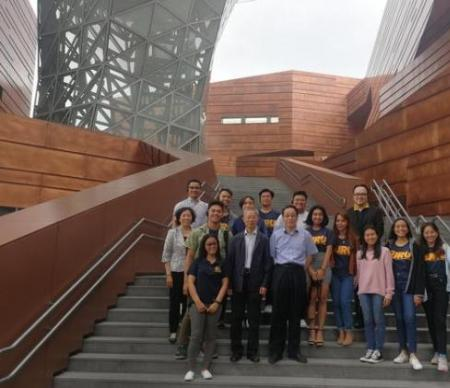 """菲律宾国父大学""""学生文化探访活动""""代表团访问上海"""